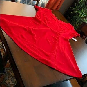 Dress, red, casual